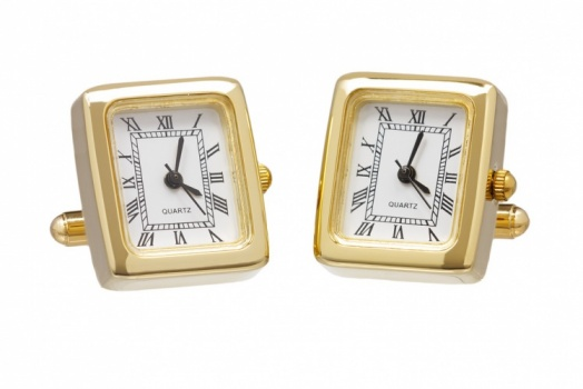 Gold Colour Working Watch Cufflinks